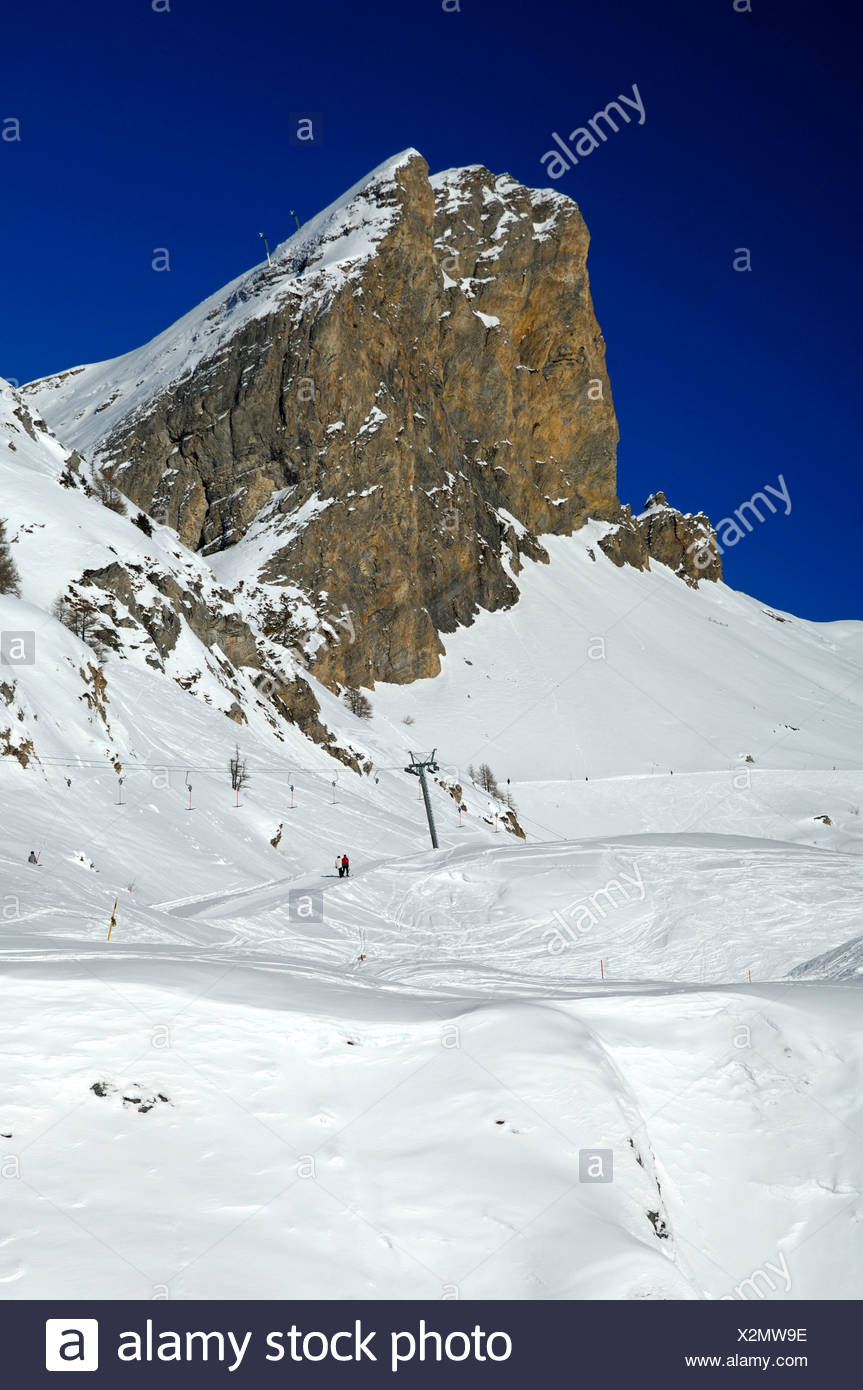 Mt Six Armaille in the skiing area Ovronnaz, Valais, Switzerland, Europe Stock Photo