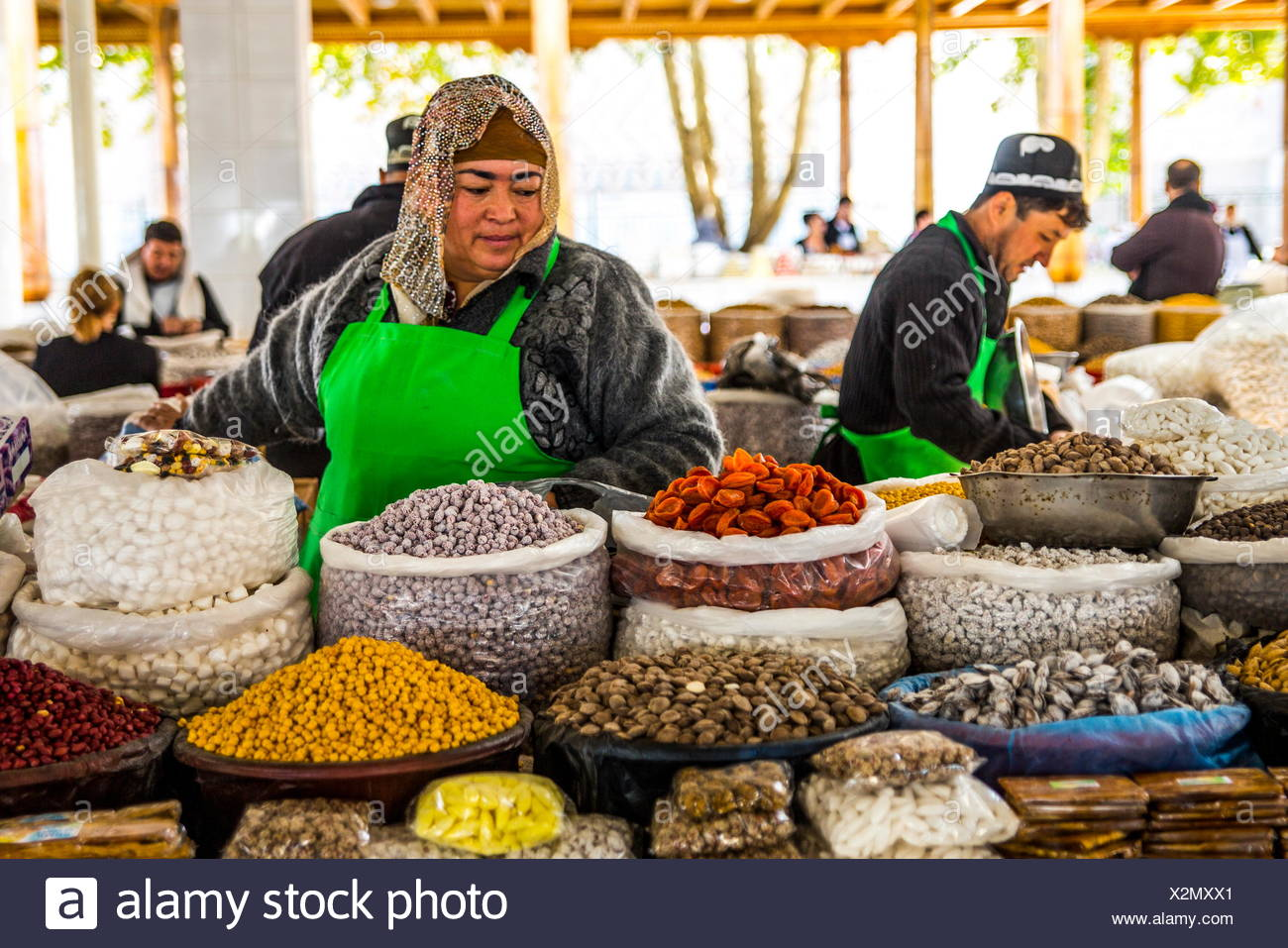 geography / travel, Uzbekistan, Samarkand, markets, Siab Bazaar, Additional-Rights-Clearance-Info-Not-Available - Stock Image