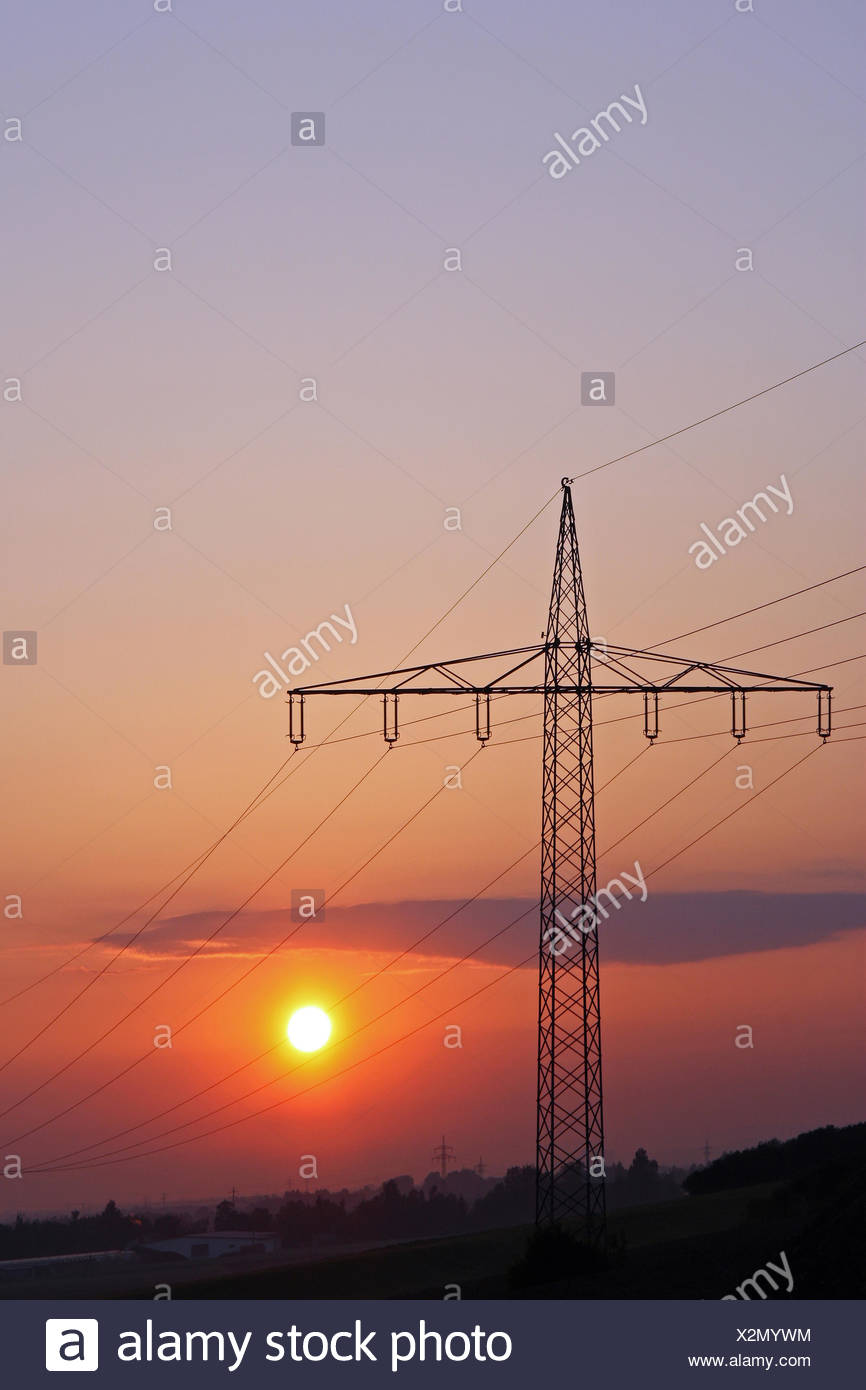 Power and sun - Stock Image