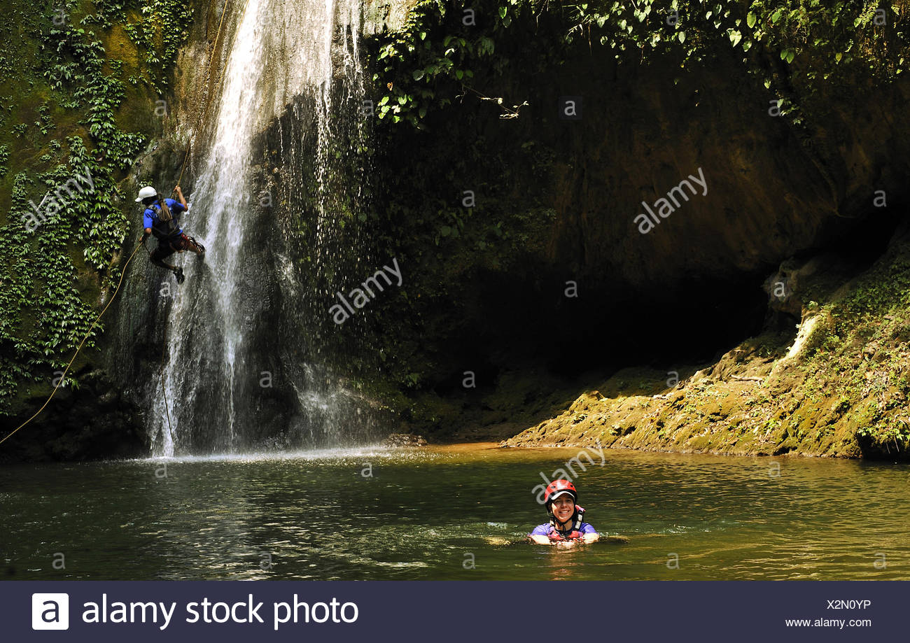 Canyoning between Pokhara and  Kathmandu, Nepal - Stock Image