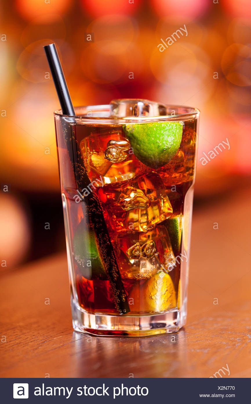 Cocktails Collection - Cuba Libre - Stock Image