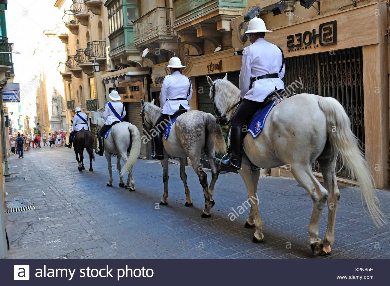 Ceremonial horse cavalry, Valletta, Malta, Southern Europe. - Stock Image