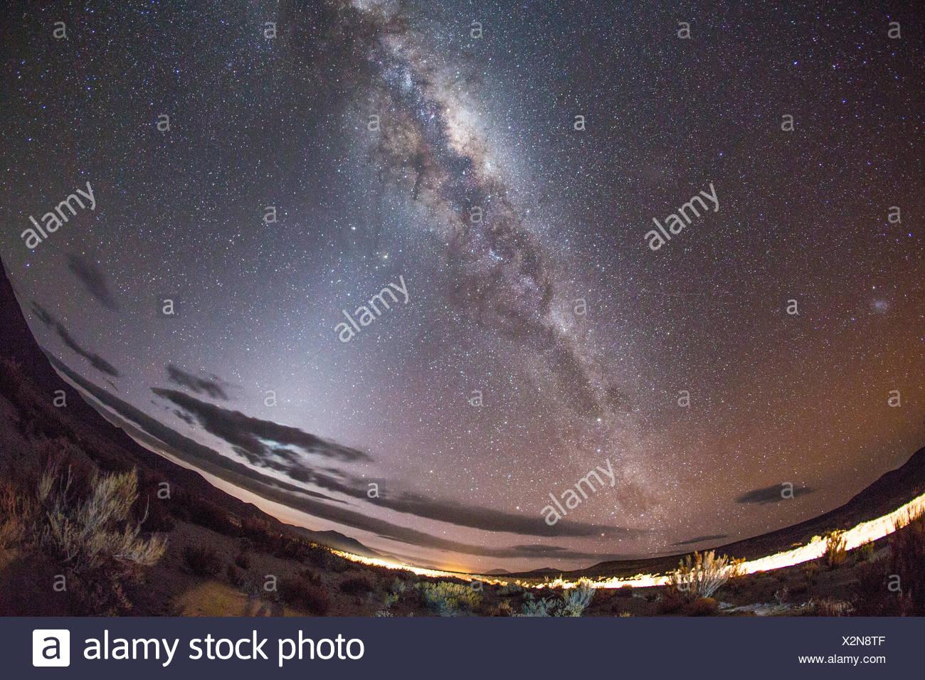 Star sky, Bolivia - Stock Image