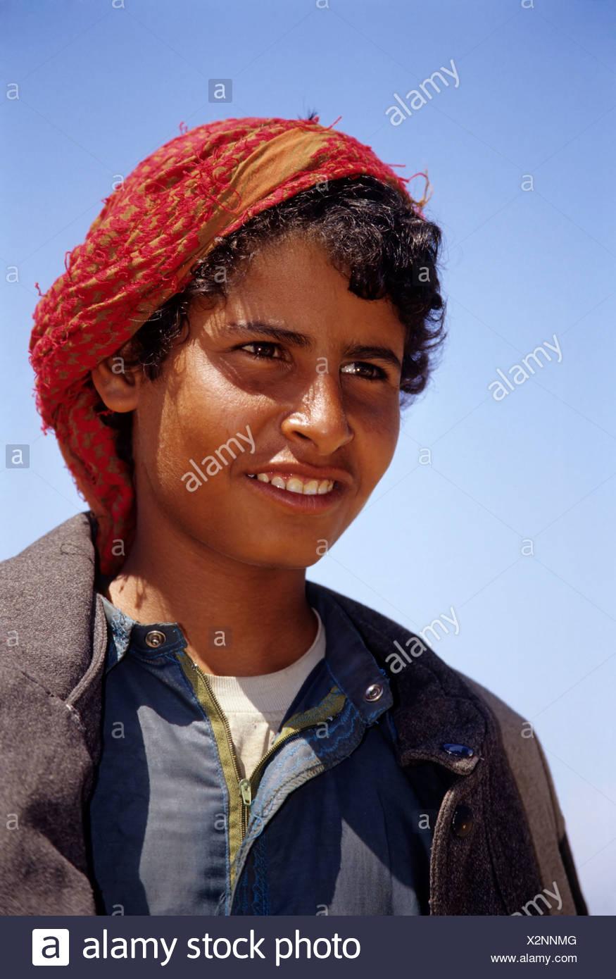 Camel shepherd, Egyptian in traditional dress, garment, portrait, Dschjellahba, Jelleba, clothes, Arabian, Egyptian, Dschellaba - Stock Image