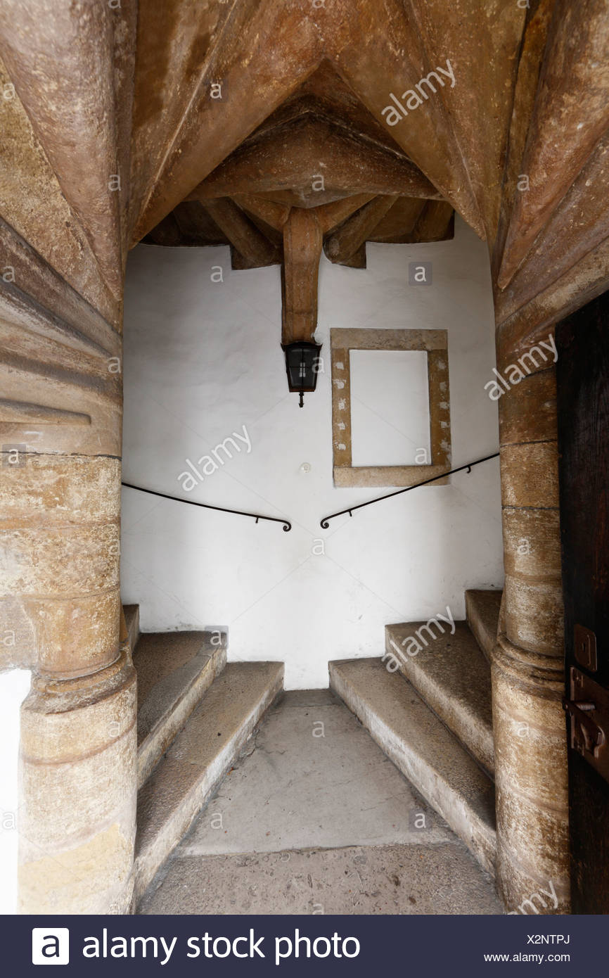 Double flights of stairs in the castle, Graz, Styria, Austria, Europe - Stock Image
