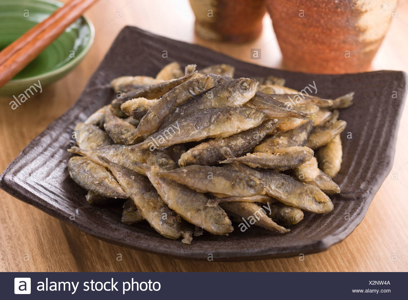 Fried Pompano - Stock Image