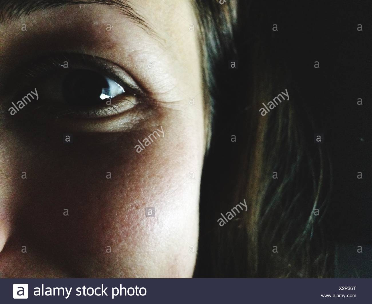 Cropped Image Of Woman - Stock Image