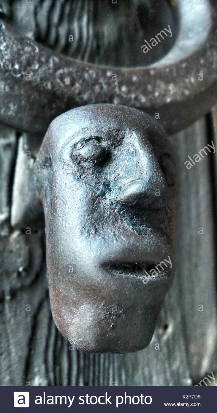 Close Up Of Old Fashioned Door Knob