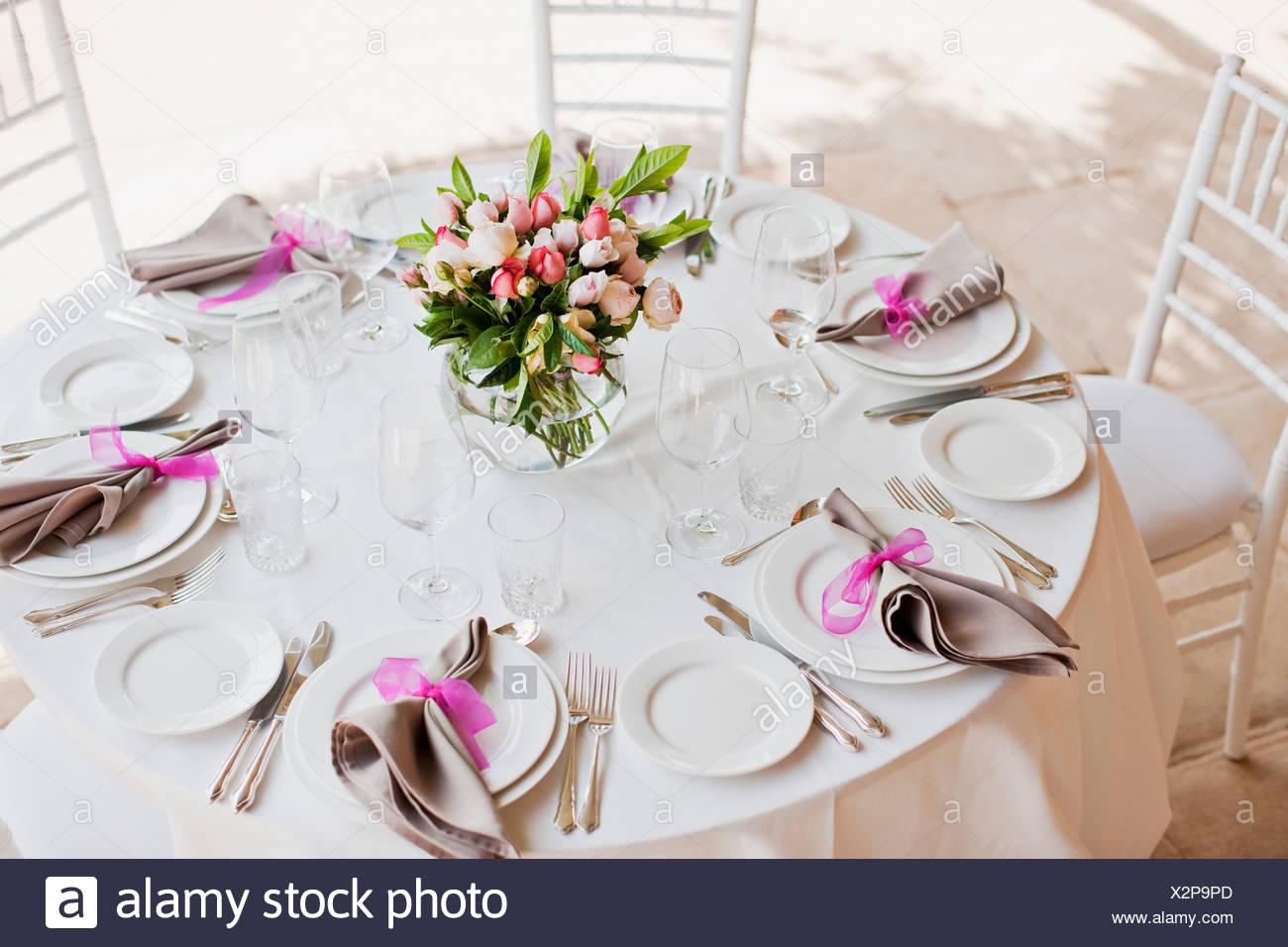 Wedding Reception Table Setting Stock Photos & Wedding Reception ...