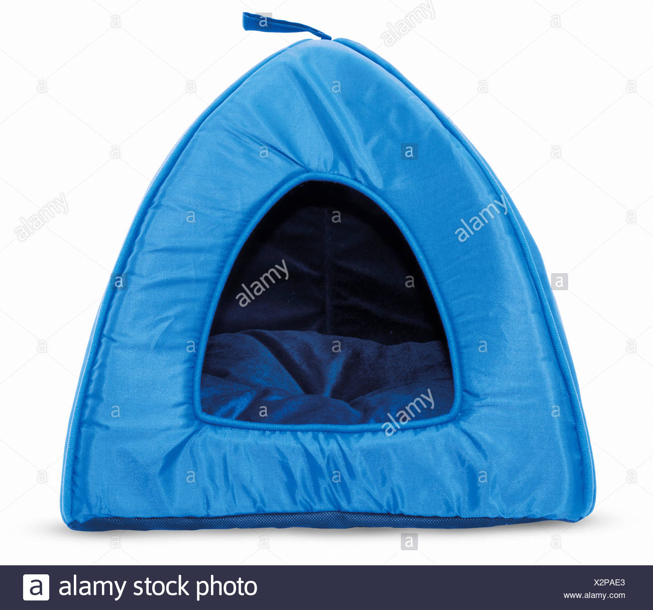 Tent-style cat bed - Stock Image