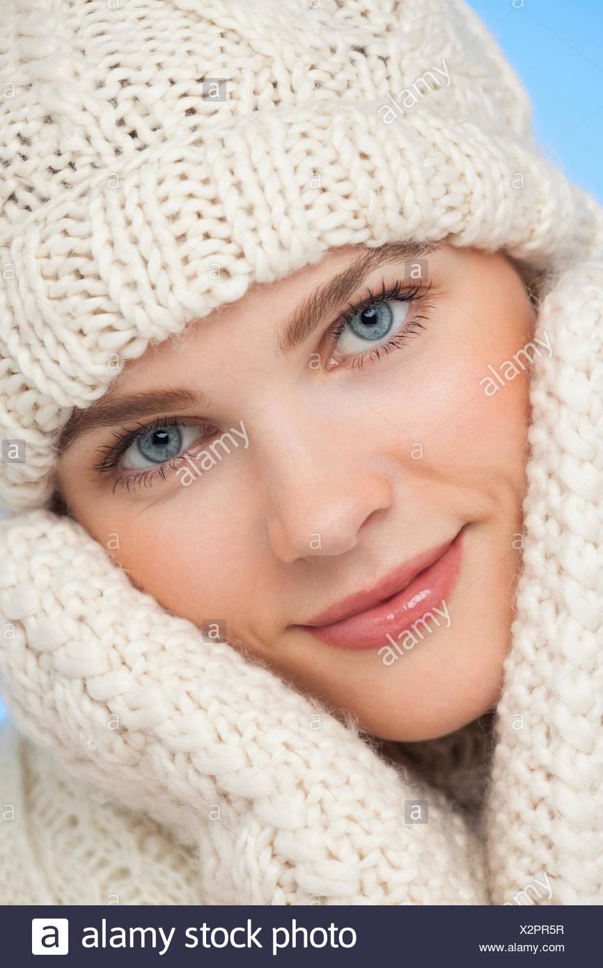 Portrait of a beautiful woman posing - Stock Image