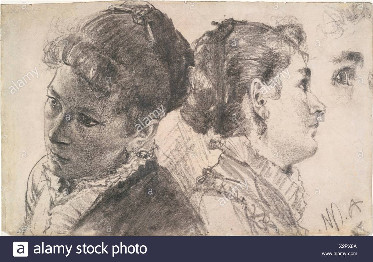Studies Of A Young Woman Artist Adolph Menzel German Breslau 1815 1905 Berlin Date 1870 Or 1879 Medium Graphite On Paper Dimensions 6 1 4 Stock Photo Alamy