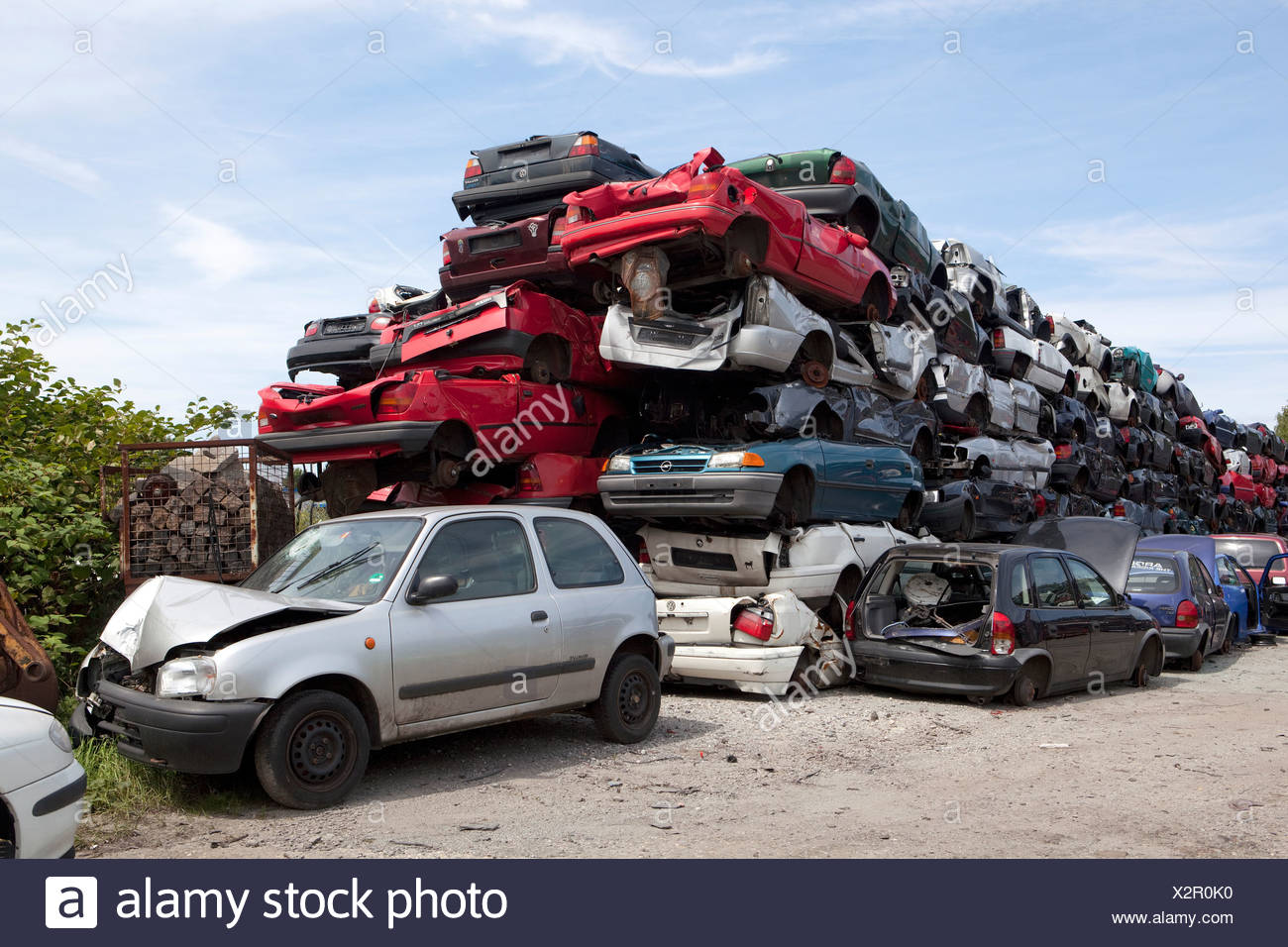 Ruhr, Germany, old cars in a junkyard Stock Photo: 277100628 - Alamy