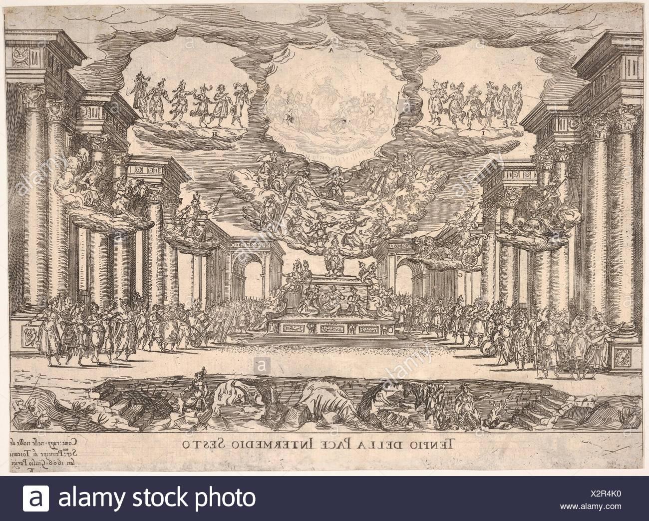 Sixth interlude: temple of peace (Intermedio sesto: tempio della pace), from the series 'Seven Interludes' for the wedding celebration of Cosimo de' - Stock Image