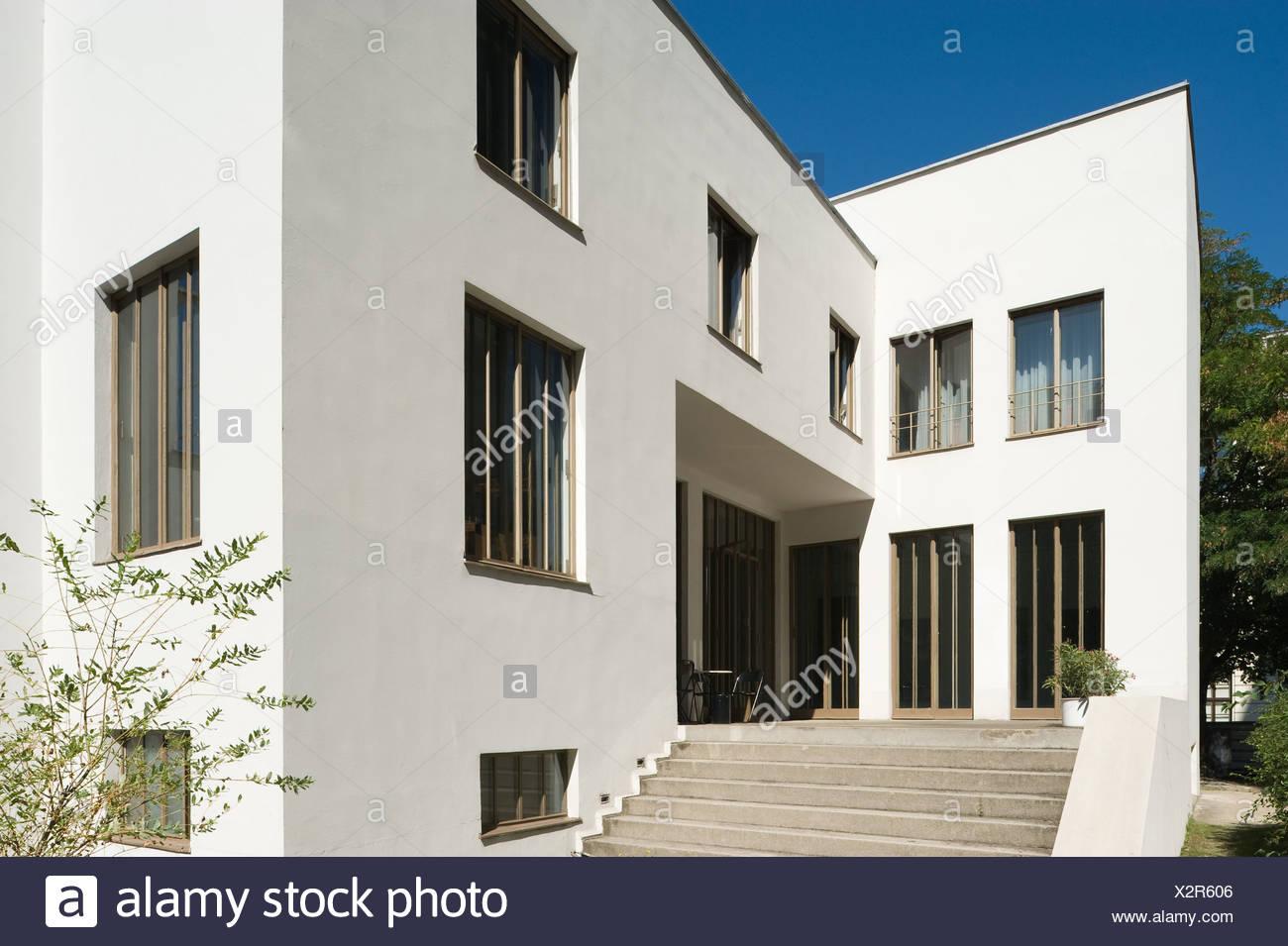 Wien, Wittgensteinhaus, Paul Engelmann und Ludwig Wittgenstein 1926-1928 - Stock Image
