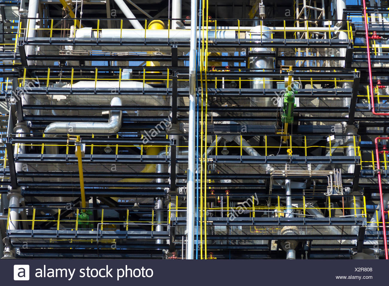 Production and storage of oil products - Stock Image