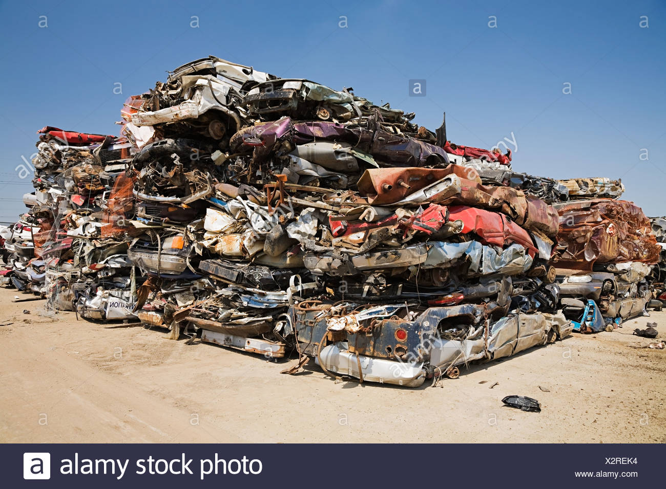 Crushed cars - Stock Image