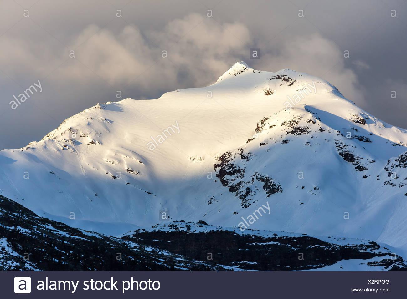 Schneebedeckte Berge im Reintal, Südtirol, Italien - Stock Image