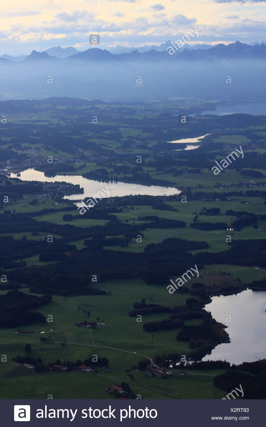 Lech reservoir near Lechbruck Stock Photo