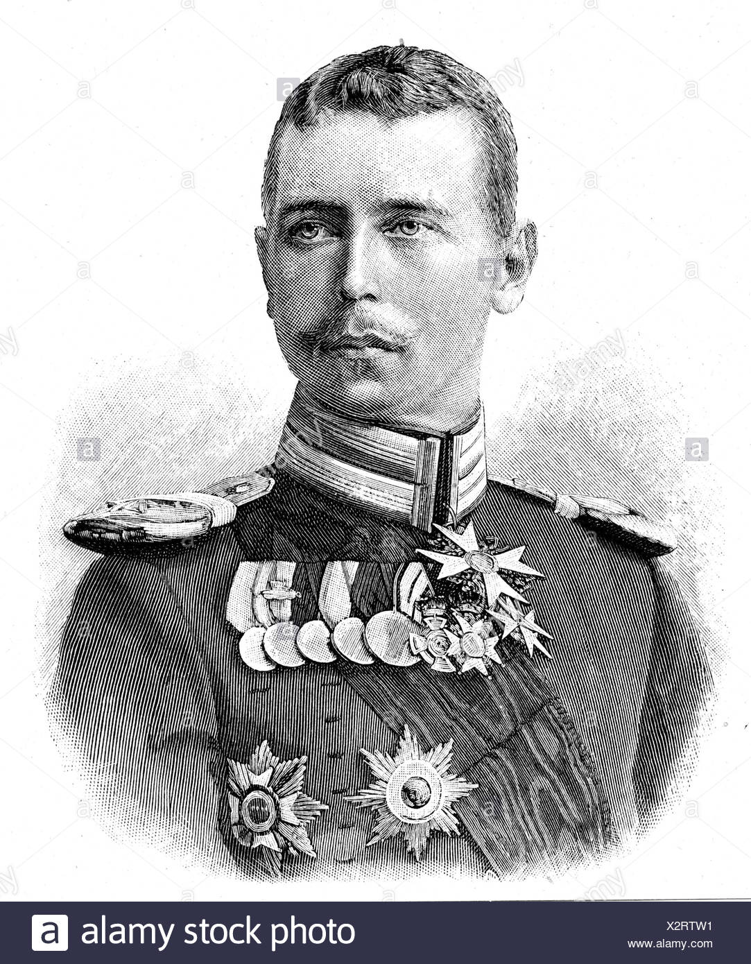 Alfred Alexander, 15.10.1874 - 6.2.1899, Heditary Prince of  , Additional-Rights-Clearances-NA - Stock Image