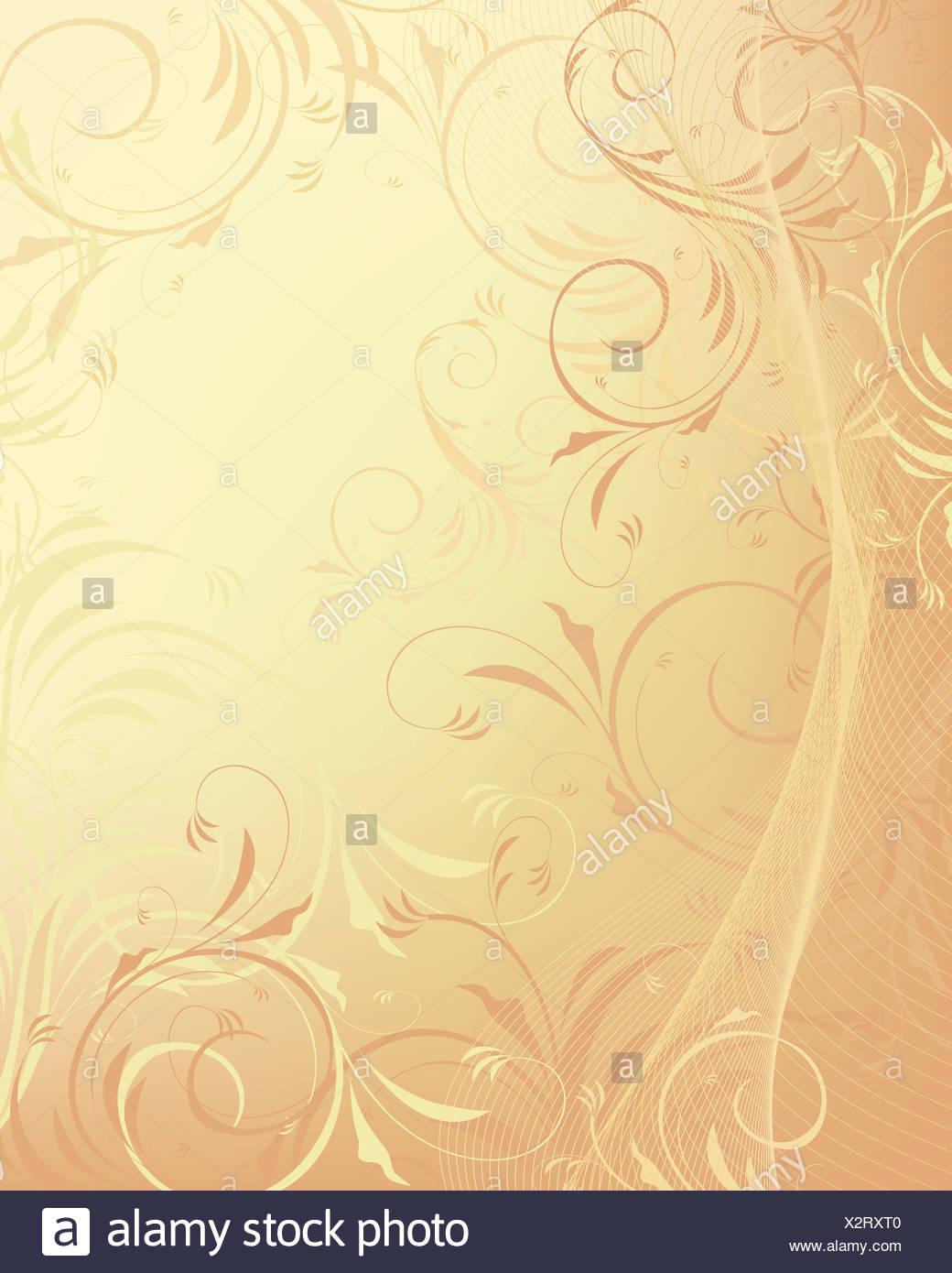 Pastel floral background - Stock Image