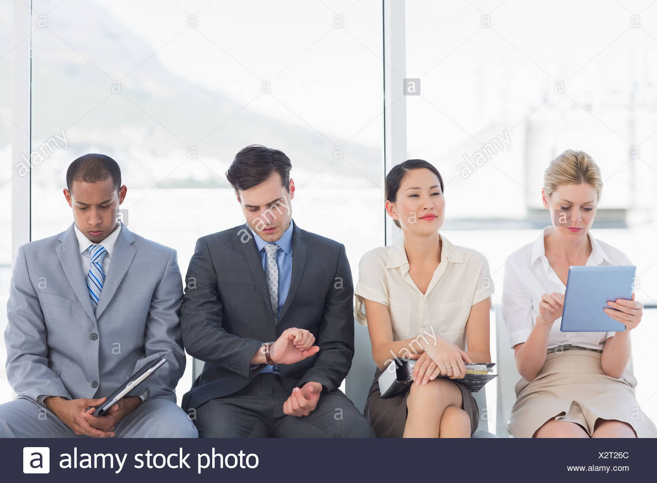 Business people waiting for job interview - Stock Image