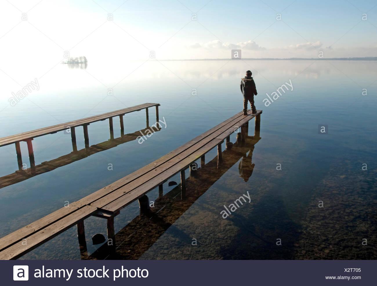 solitude,loneliness,lake,silence,alone Stock Photo