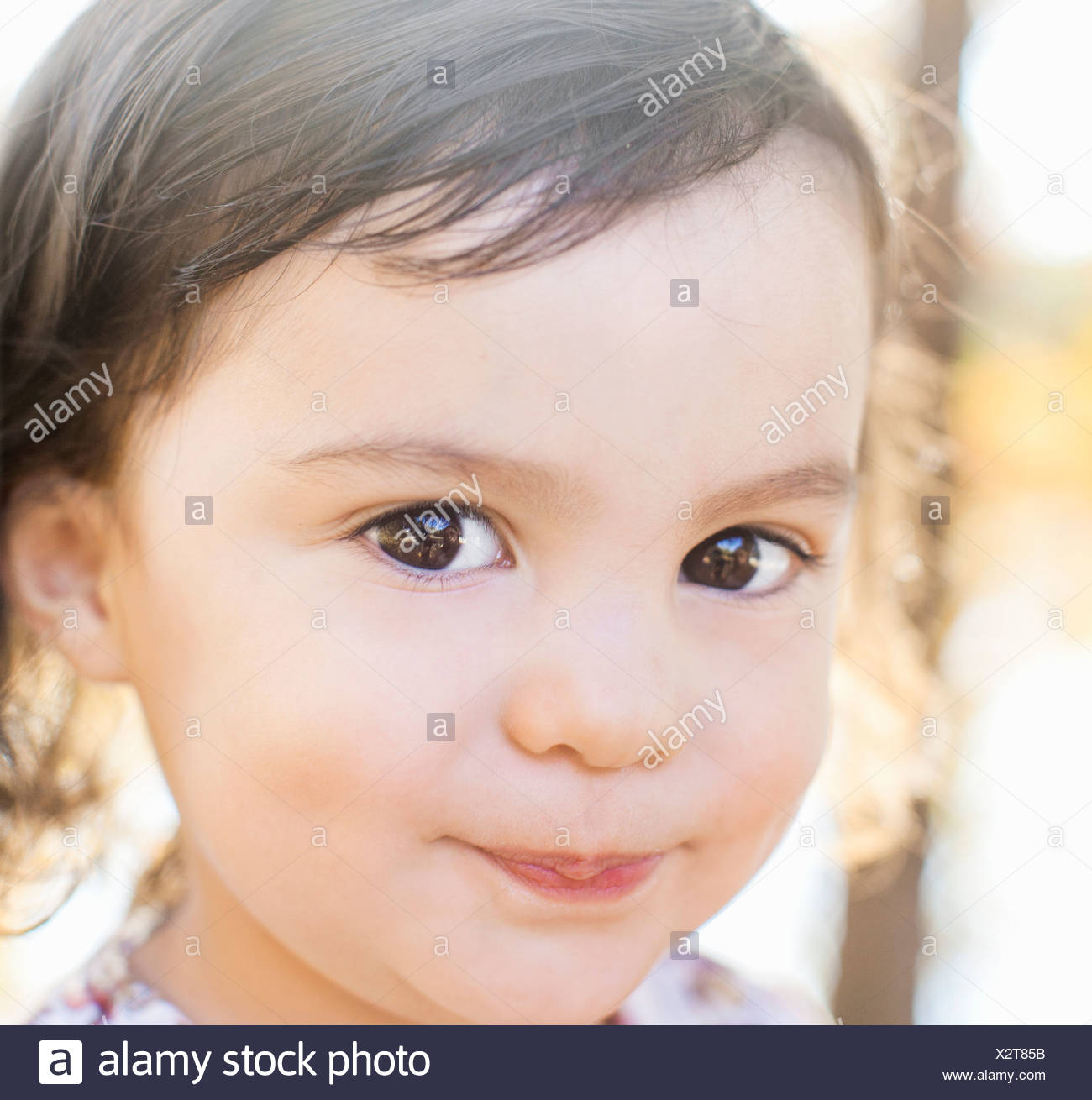 Child with charming smile - Stock Image