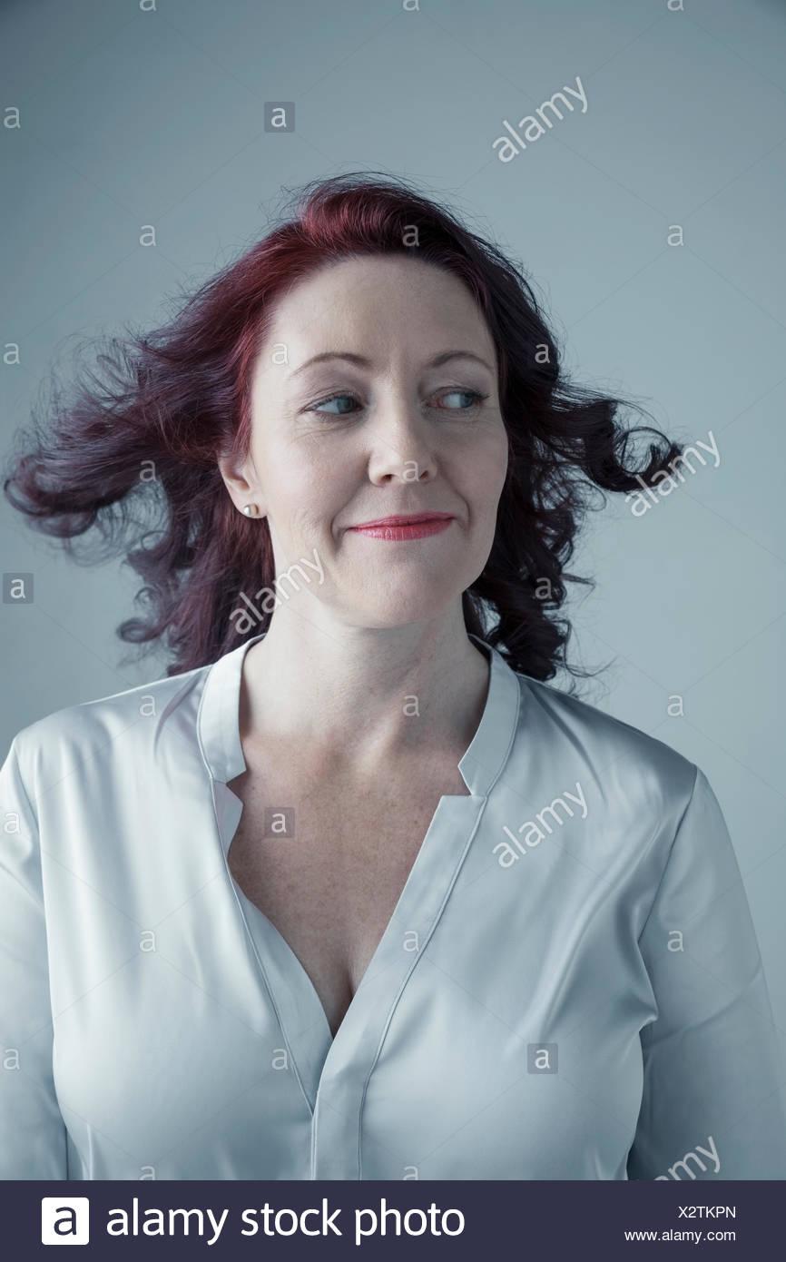 Mature auburn woman