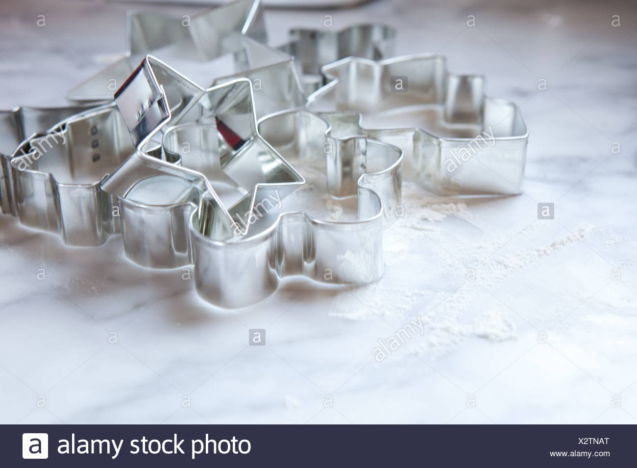 Christmas cookie cutters - Stock Image