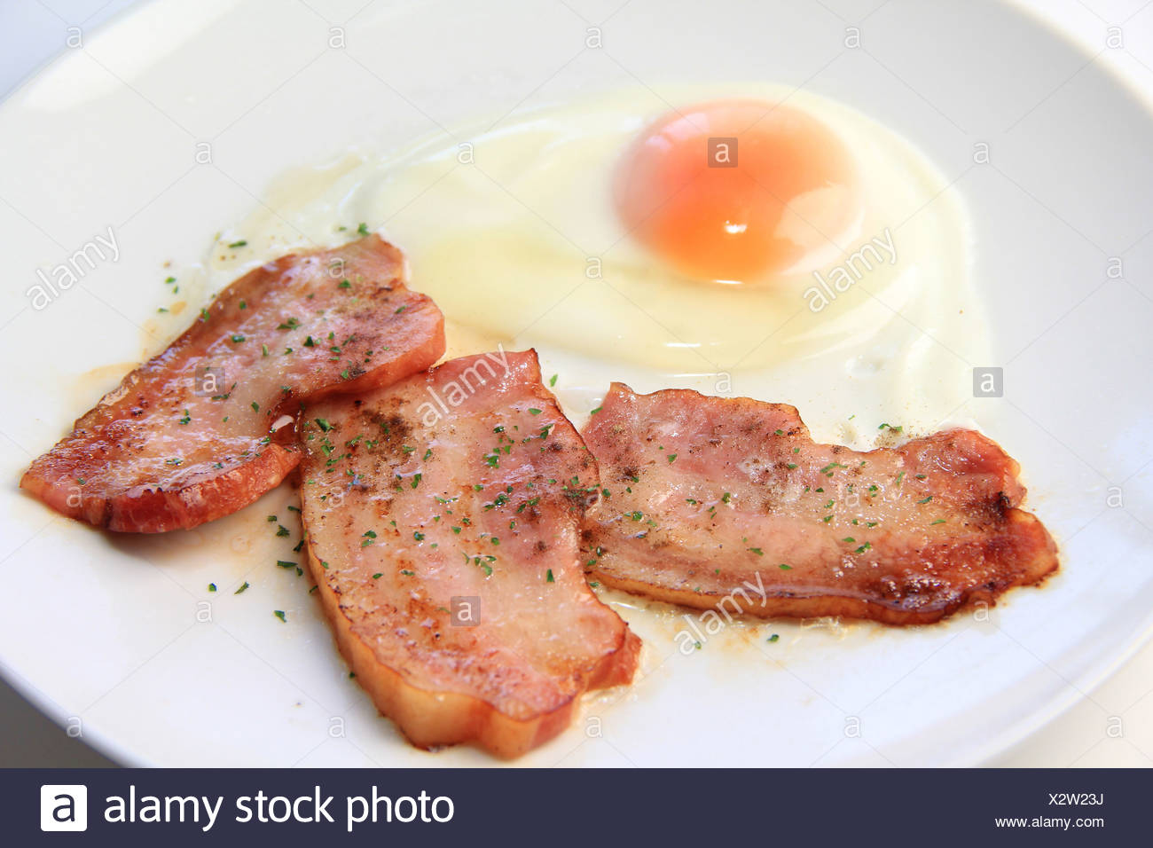 Bacon and eggs - Stock Image