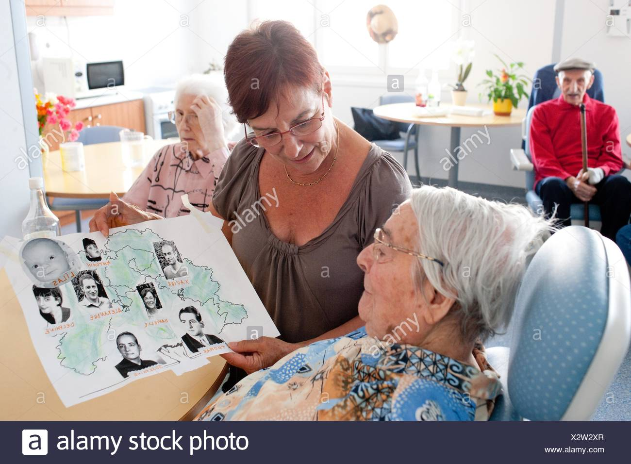 Elderly Person With The Disease Of Alzheimer S And Her