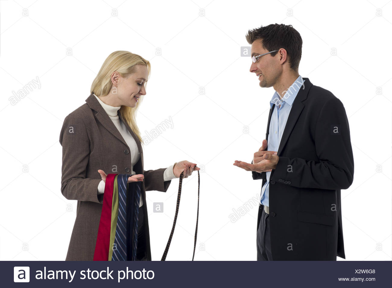 Man with tie - Stock Image