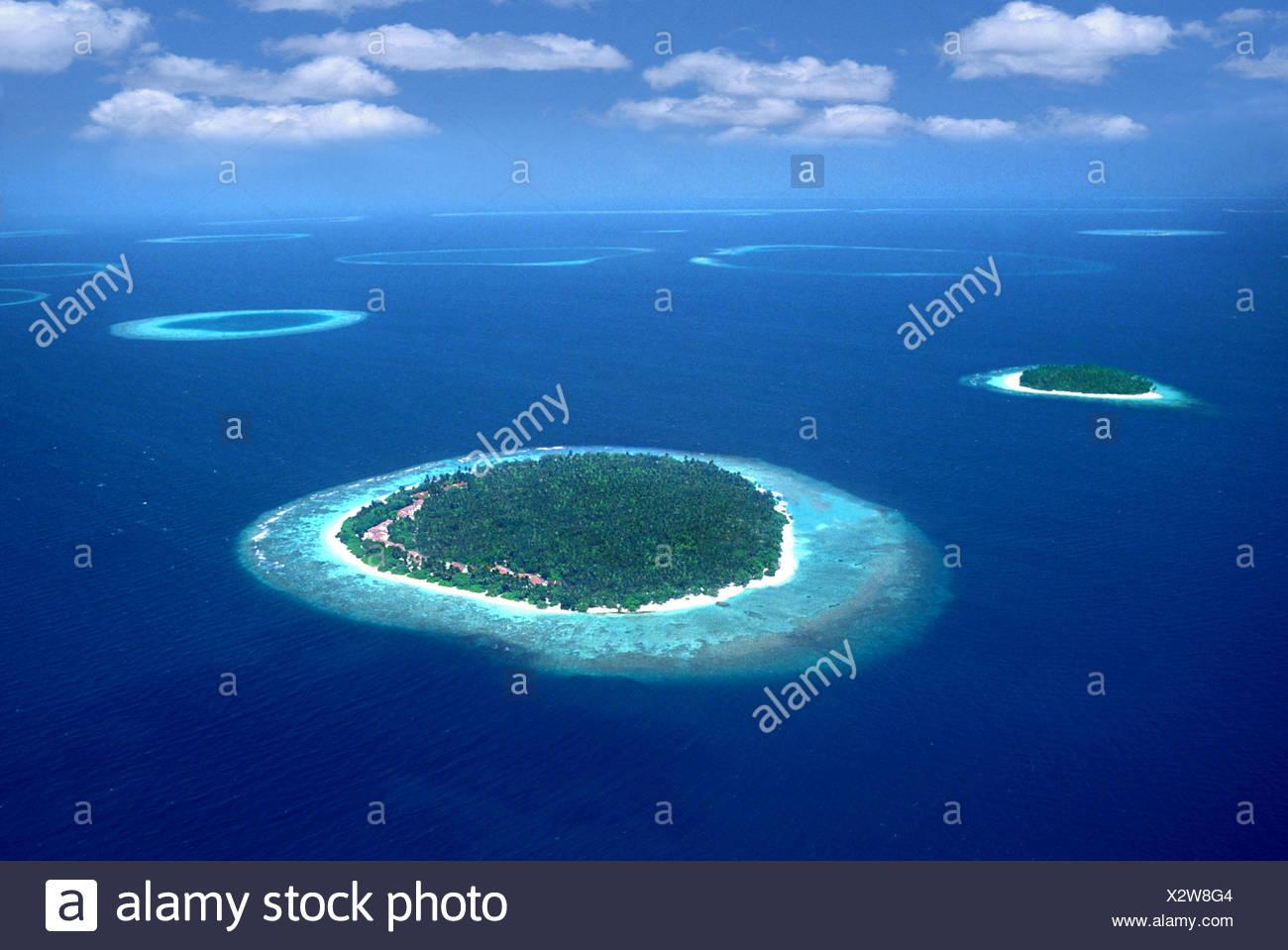 Maledives, group of islands, Maldives - Stock Image