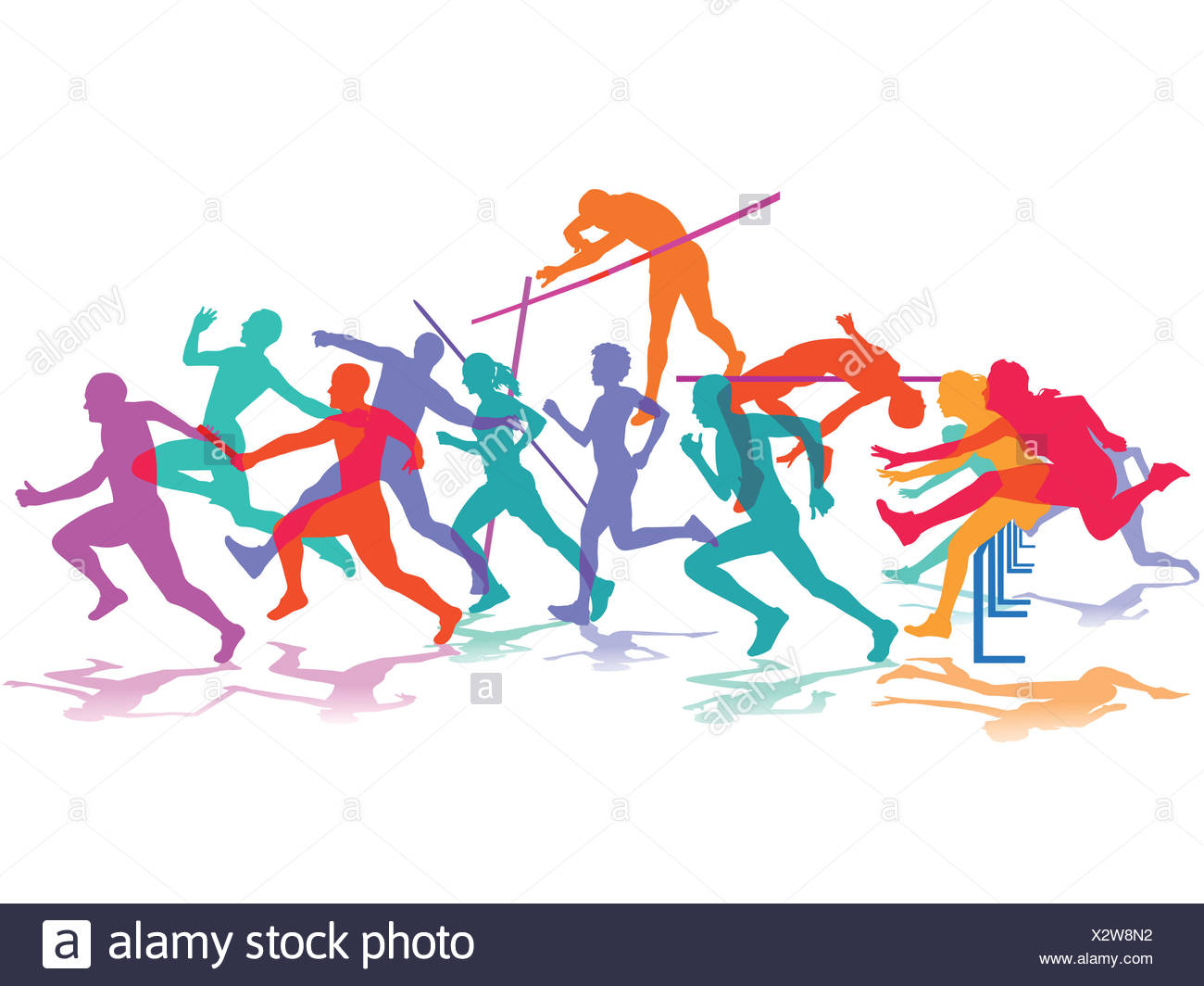 athletics, sport - Stock Image