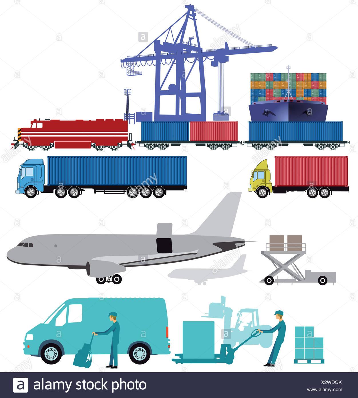Freight, transport, transportation Stock Photo
