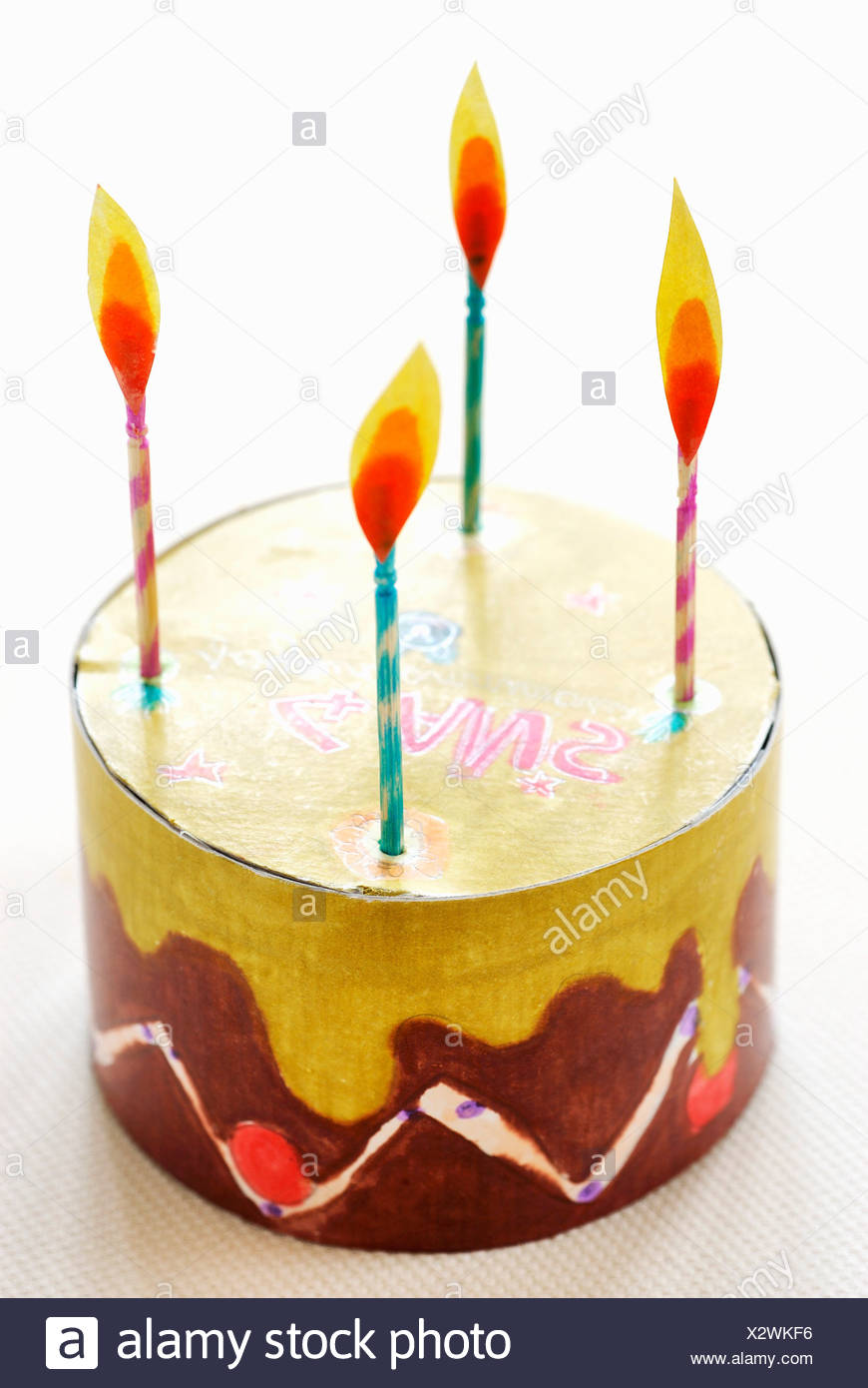 Child Birthday Cake Cut Out Stock Photos Child Birthday Cake Cut