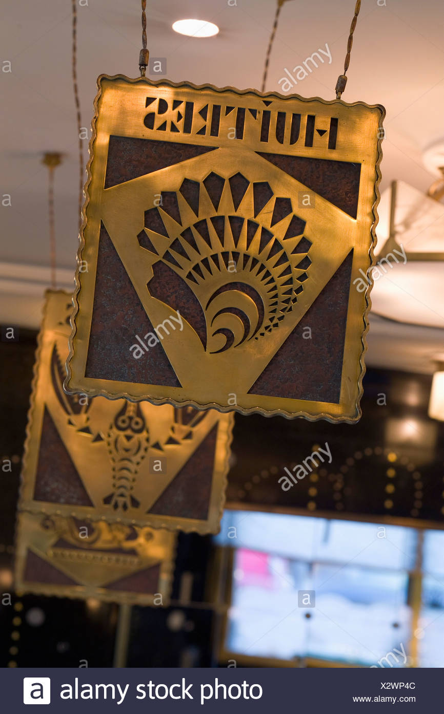Interieur decoration of an oyster bar - Stock Image