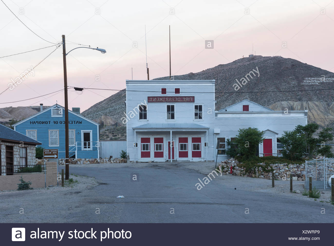 Nevada, Mineral County, Tonopah, Fire Department - Stock Image