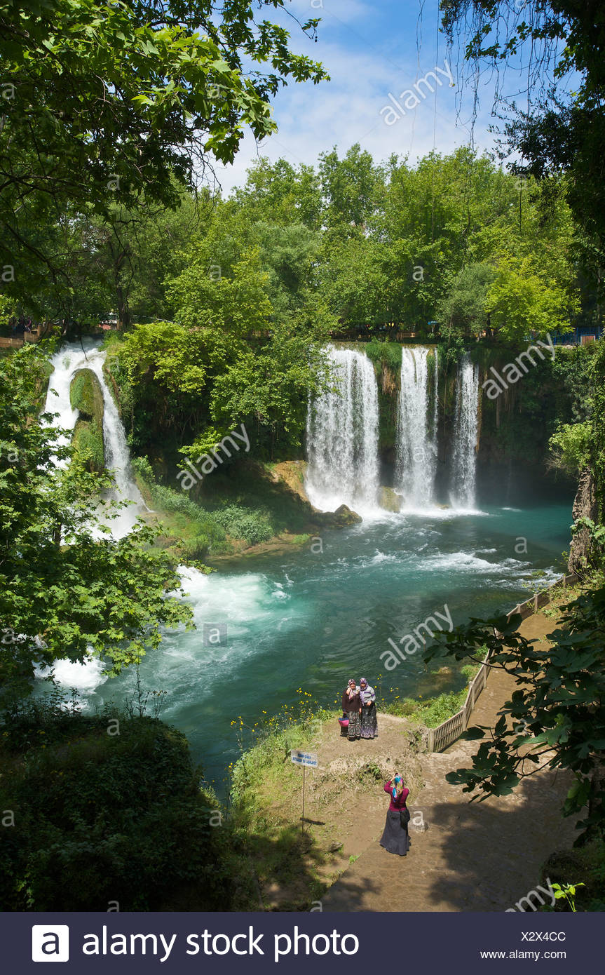 Turkish, Riviera, Duden, waterfalls, Antalya, Turkish Riviera, Turkey - Stock Image