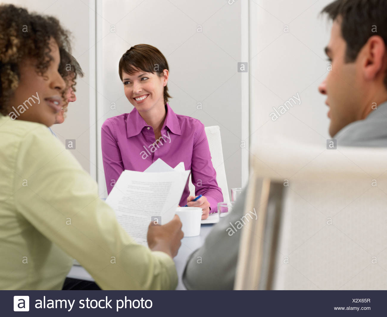 People in a meeting - Stock Image