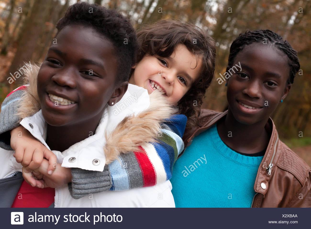 My adoption sisters - Stock Image