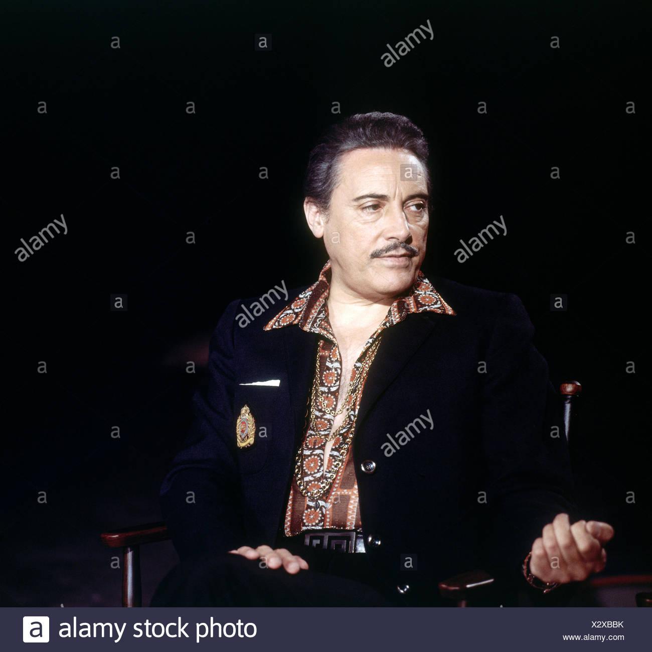 Monaco, Mario del, 27.7.1915 - 16.10.1982, Italian singer (tenor), half length, at rehearsal for ARD television program, 16.5.1973, Additional-Rights-Clearances-NA - Stock Image