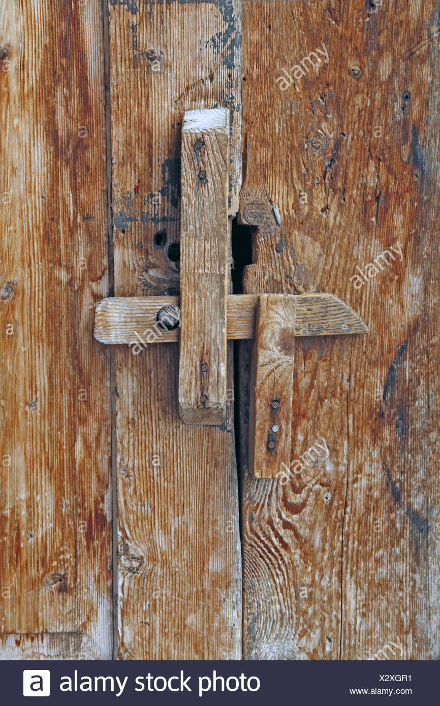 wooden door latch door plank door seal latch plug close wooden plugs wooden wooden simply backup rest nose wooden shed closed Stock Photo ... & wooden door latch door plank door seal latch plug close ...