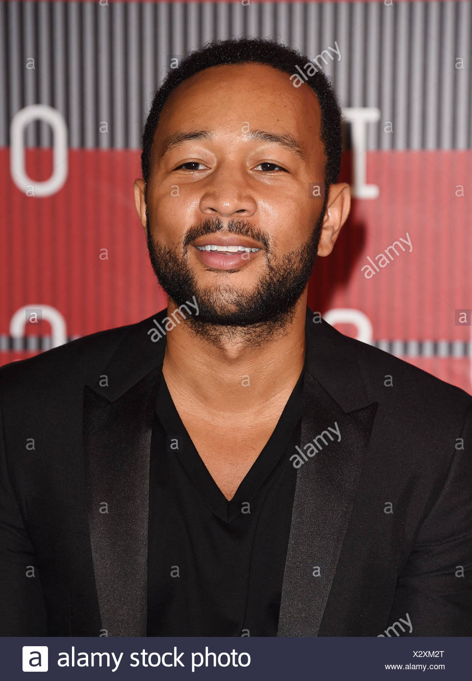 JOHN LEGEND arrives at the 2015 MTV Video Music Awards at Microsoft Theater on August 30, 2015 in Los Angeles, California., Additional-Rights-Clearances-NA - Stock Image