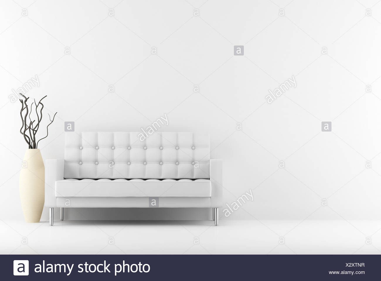 Incredible Leather Couch And Vase With Dry Wood Stock Photo 277185379 Pabps2019 Chair Design Images Pabps2019Com