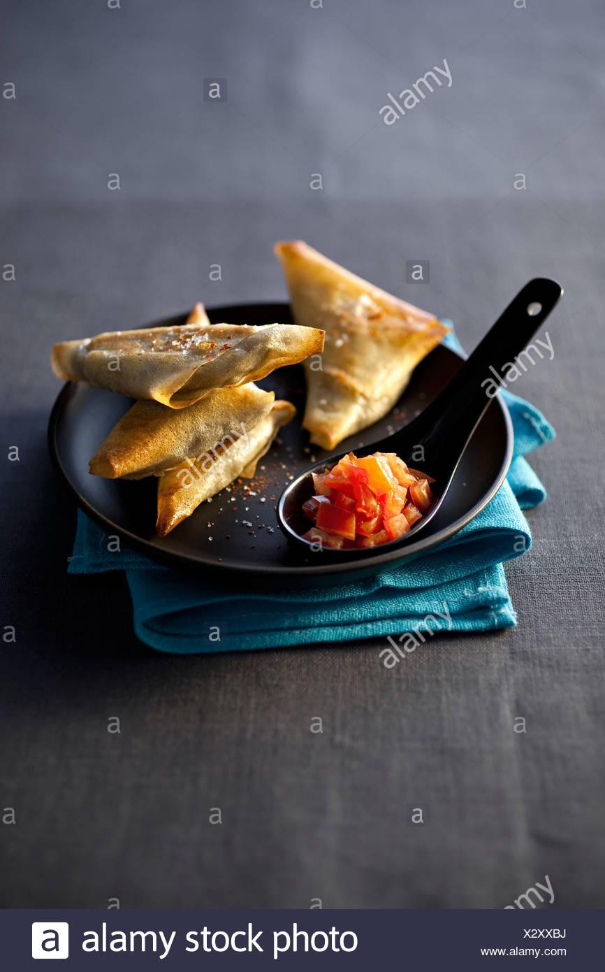 Eggplants Triangles - Stock Image