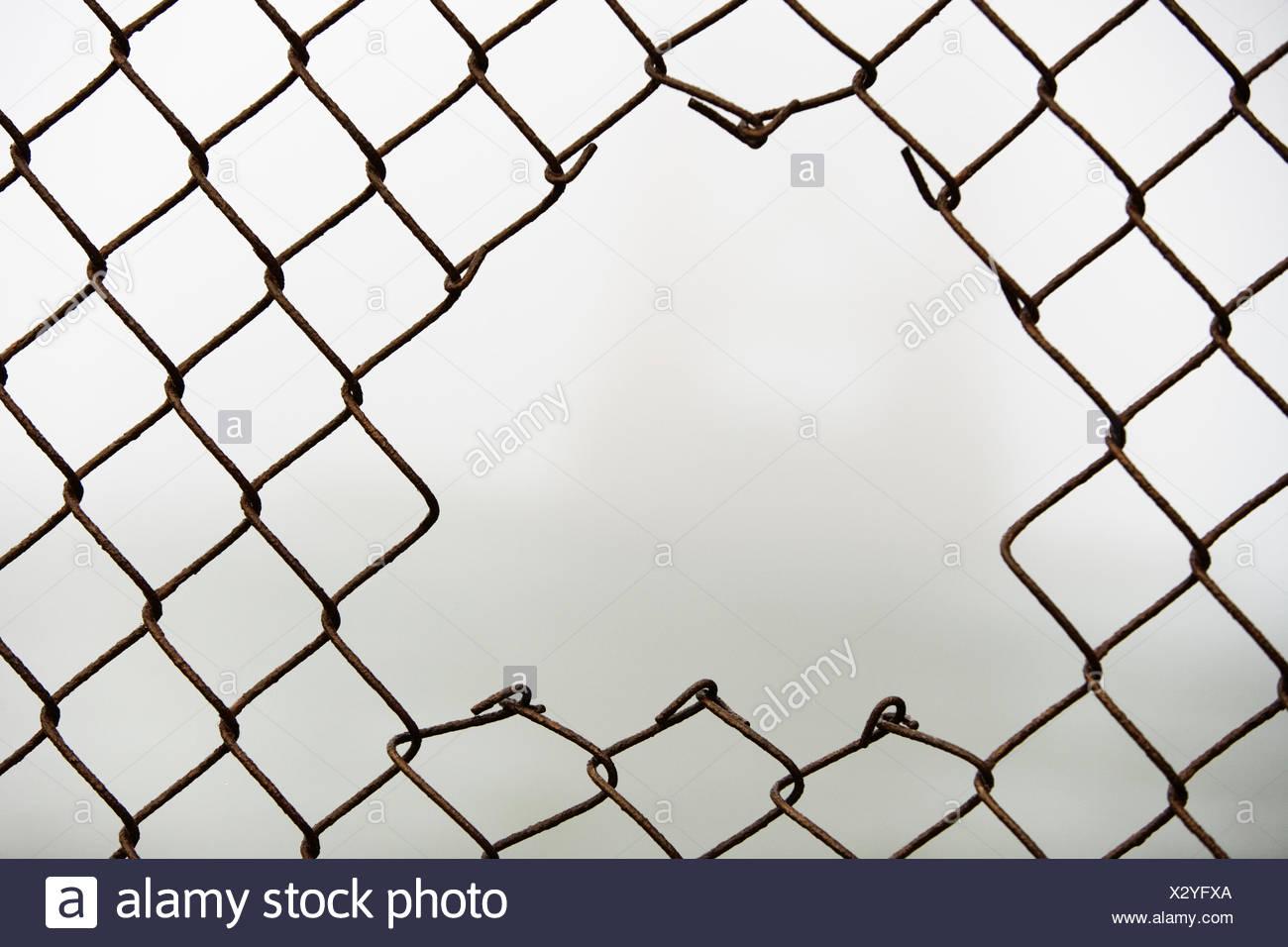 Fence Hole Stock Photos & Fence Hole Stock Images - Alamy