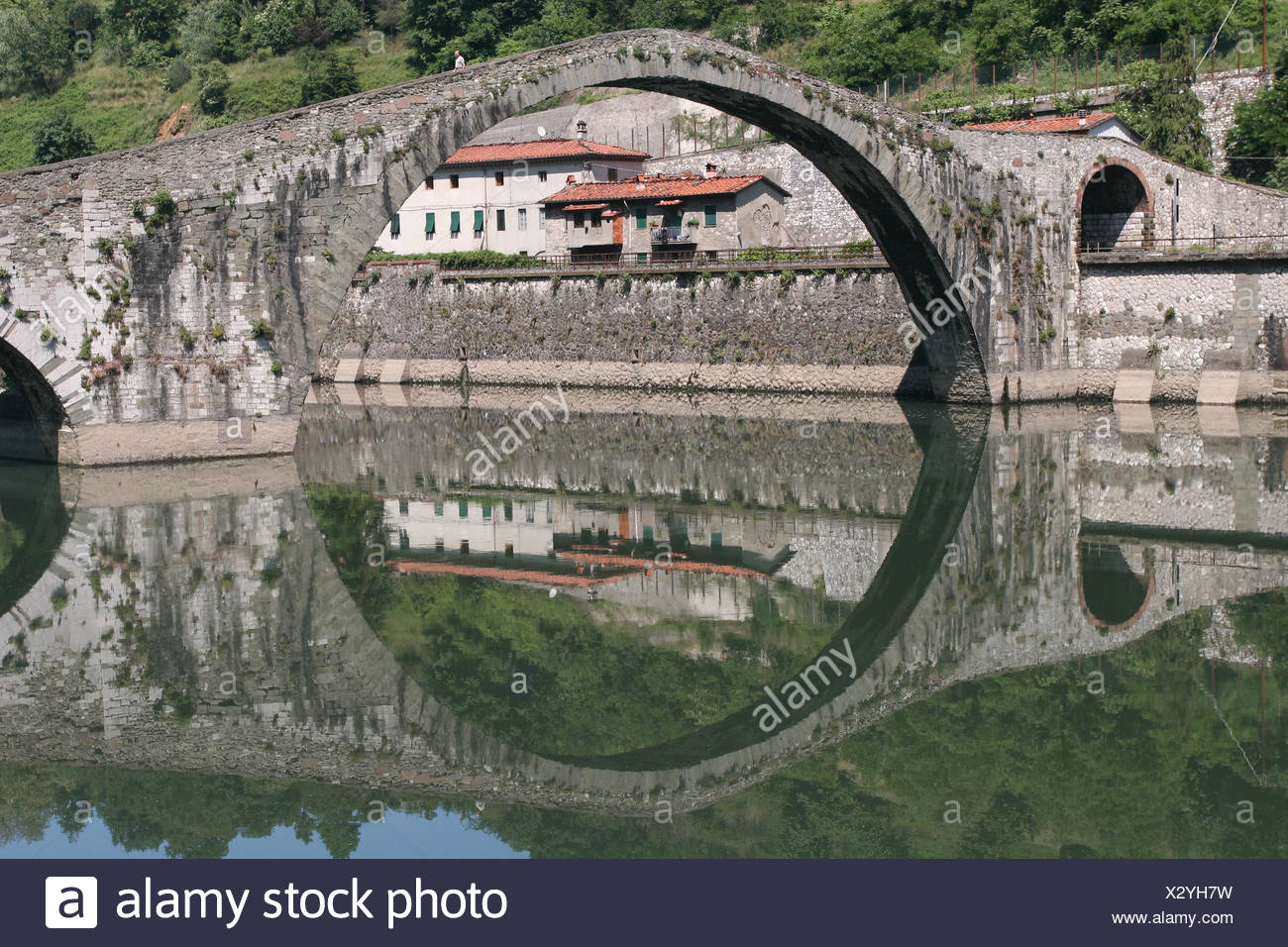 ponte di diavolo,borgo Stock Photo