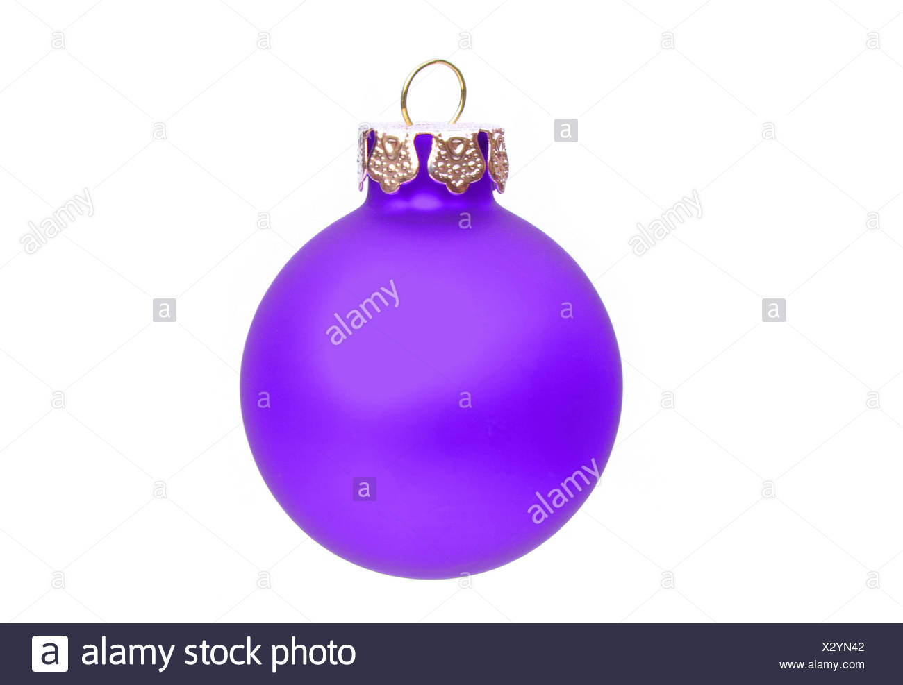 Weihnachtskugel freigestellt - christmas ball isolated 06 - Stock Image